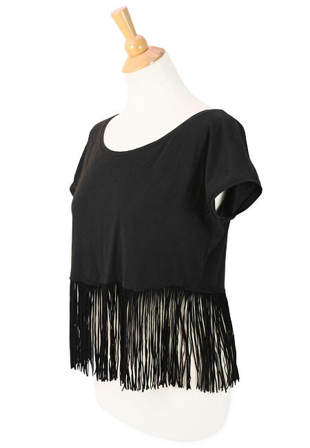 Leather Fringe Tshirt from M&J Trimming